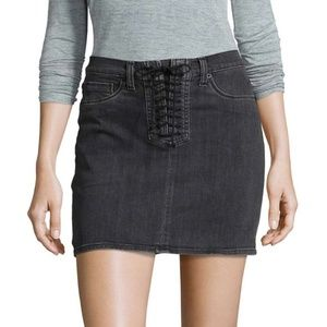 HUDSON Jeans Bullocks Lace-Up High Rise Skirt